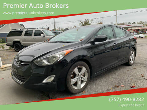 2012 Hyundai Elantra for sale at Premier Auto Brokers in Virginia Beach VA