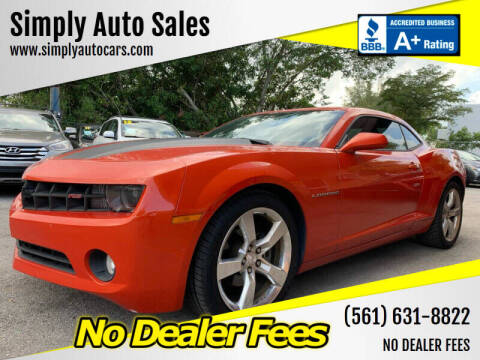 2011 Chevrolet Camaro for sale at Simply Auto Sales in Palm Beach Gardens FL