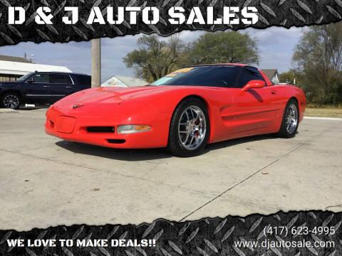 1999 Chevrolet Corvette for sale at D & J AUTO SALES in Joplin MO