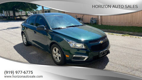 2015 Chevrolet Cruze for sale at Horizon Auto Sales in Raleigh NC