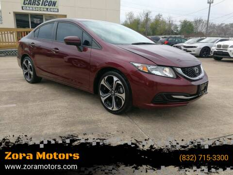 2014 Honda Civic for sale at Zora Motors in Houston TX