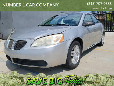 2006 Pontiac G6 for sale at NUMBER 1 CAR COMPANY in Detroit MI