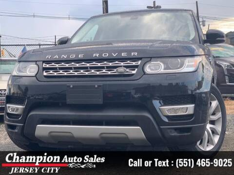 2014 Land Rover Range Rover Sport for sale at CHAMPION AUTO SALES OF JERSEY CITY in Jersey City NJ