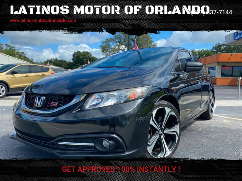 2015 Honda Civic for sale at LATINOS MOTOR OF ORLANDO in Orlando FL