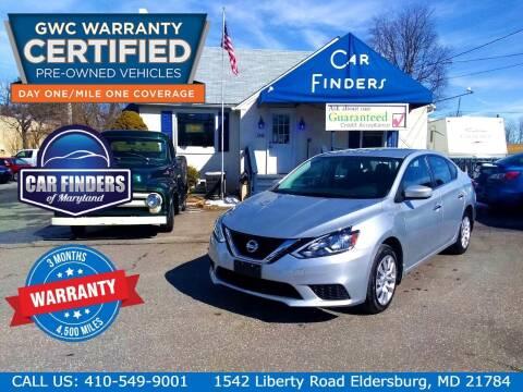2017 Nissan Sentra for sale at CAR FINDERS OF MARYLAND LLC - Certified Cars in Eldersburg MD