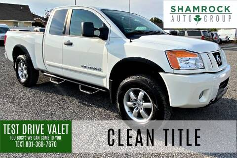 2012 Nissan Titan for sale at Shamrock Group LLC #1 in Pleasant Grove UT