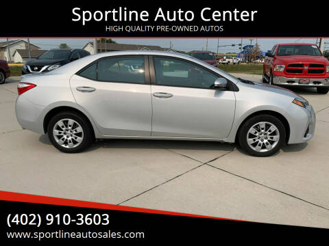 2016 Toyota Corolla for sale at Sportline Auto Center in Columbus NE