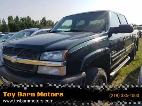 2004 Chevrolet Silverado 2500HD for sale at Toy Barn Motors in New York Mills MN