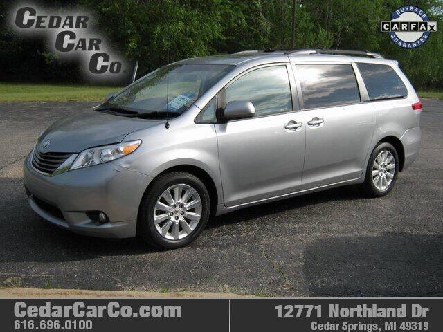 2012 Toyota Sienna for sale at Cedar Car Co in Cedar Springs MI