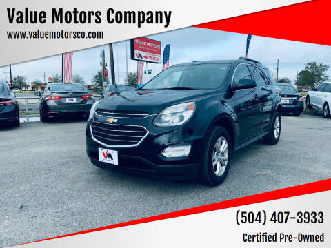 2017 Chevrolet Equinox for sale at Value Motors Company in Marrero LA