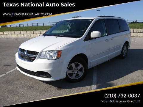2013 Dodge Grand Caravan for sale at Texas National Auto Sales in San Antonio TX