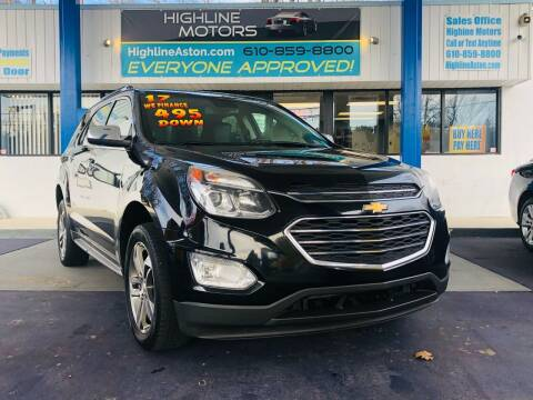 2017 Chevrolet Equinox for sale at Highline Motors in Aston PA