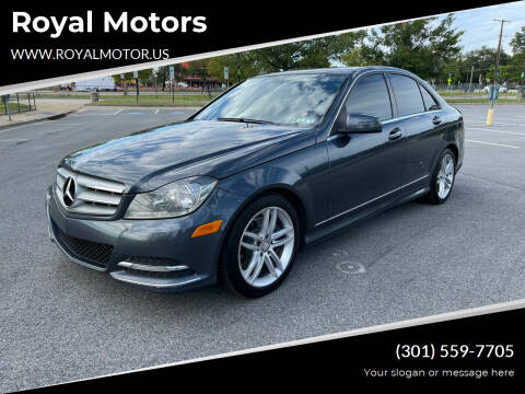 2013 Mercedes-Benz C-Class for sale at Royal Motors in Hyattsville MD