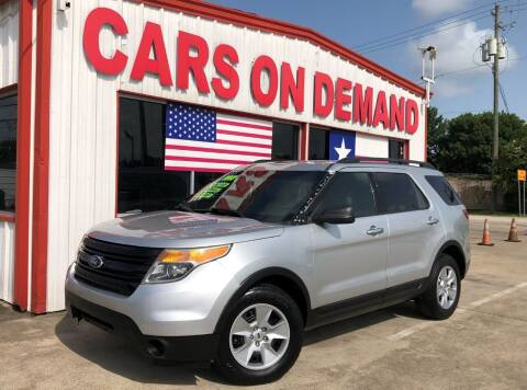 2013 Ford Explorer for sale at Cars On Demand 3 in Pasadena TX