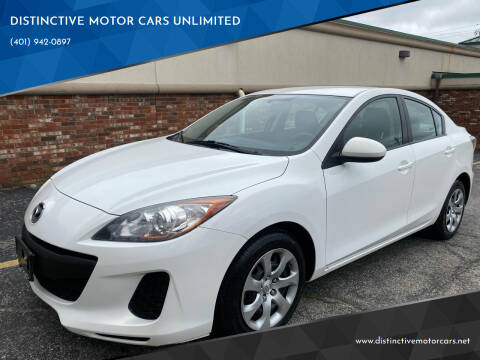 2013 Mazda MAZDA3 for sale at DISTINCTIVE MOTOR CARS UNLIMITED in Johnston RI