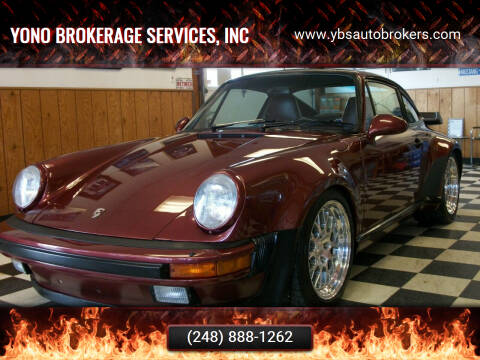1986 Porsche 911 for sale at Yono Brokerage Services, INC in Farmington MI