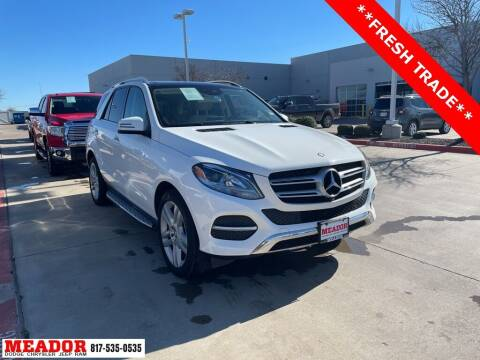 2017 Mercedes-Benz GLE for sale at Meador Dodge Chrysler Jeep RAM in Fort Worth TX
