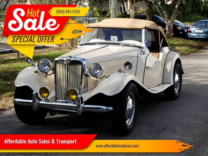 1952 British Coach Works MG for sale at Affordable Auto Sales & Transport in Pompano Beach FL