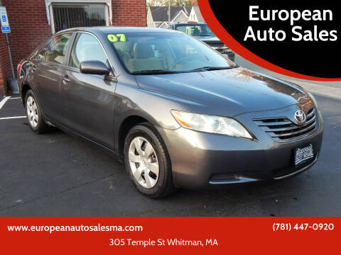 2007 Toyota Camry for sale at European Auto Sales in Whitman MA