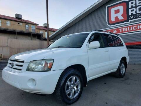 2005 Toyota Highlander for sale at Red Rock Auto Sales in Saint George UT