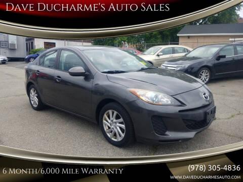 2012 Mazda MAZDA3 for sale at Dave Ducharme's Auto Sales in Lowell MA
