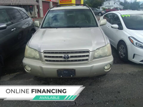 2002 Toyota Highlander for sale at Marino's Auto Sales in Laurel DE