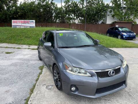 2012 Lexus CT 200h for sale at Detroit Cars and Trucks in Orlando FL