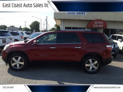2011 GMC Acadia for sale at East Coast Auto Sales llc in Virginia Beach VA