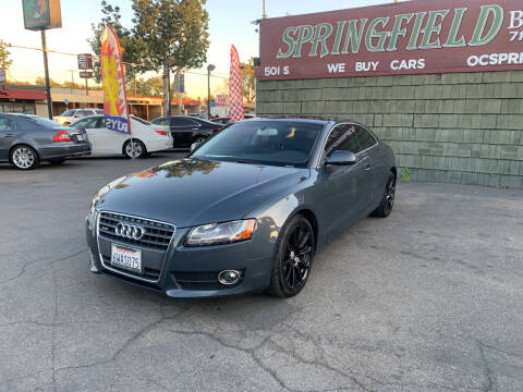 2011 Audi A5 for sale at SPRINGFIELD BROTHERS LLC in Fullerton CA