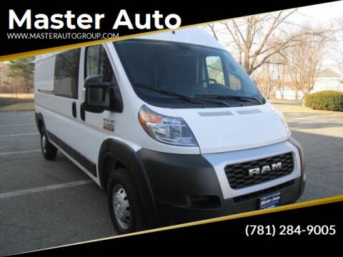 2019 RAM ProMaster Cargo for sale at Master Auto in Revere MA
