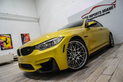 2017 BMW M4 for sale at AUTO IMPORTS MIAMI in Fort Lauderdale FL
