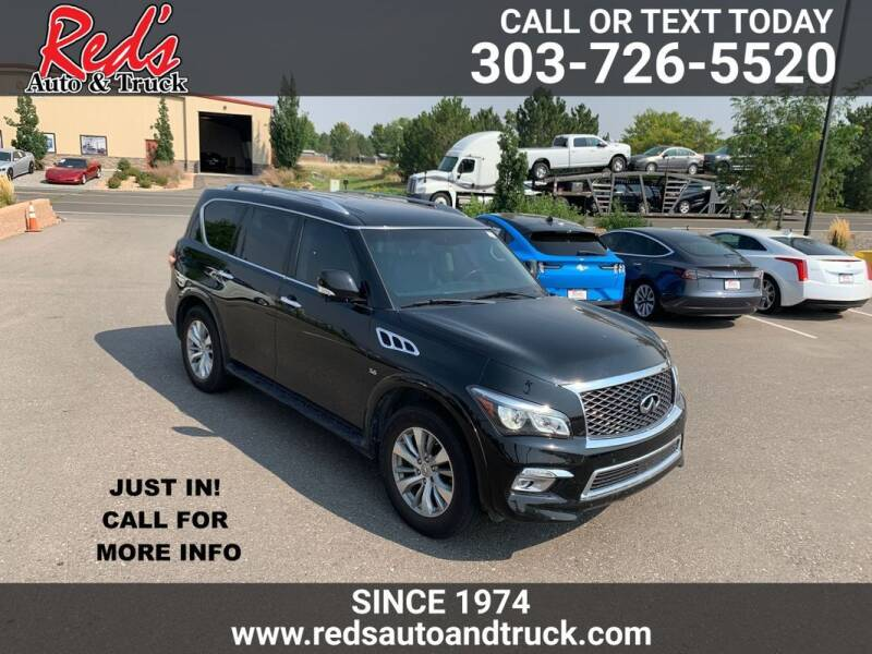 2017 Infiniti QX80 for sale at Red's Auto and Truck in Longmont CO