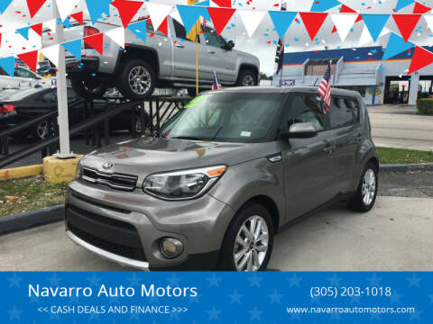 2018 Kia Soul for sale at Navarro Auto Motors in Hialeah FL