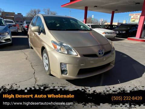 2010 Toyota Prius for sale at High Desert Auto Wholesale in Albuquerque NM