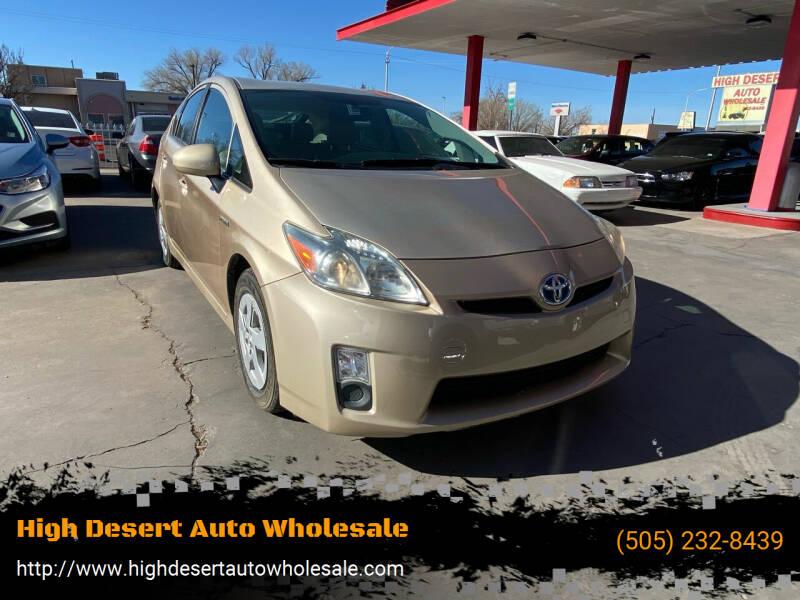 2010 Toyota Prius for sale at High Desert Auto Wholesale in Albuquerque NM