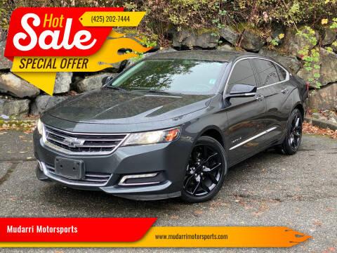 2018 Chevrolet Impala for sale at Mudarri Motorsports in Kirkland WA