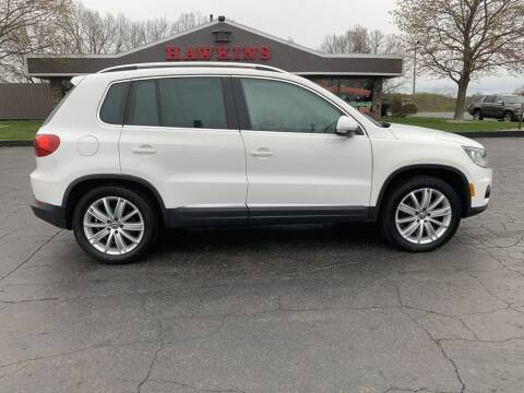 2012 Volkswagen Tiguan for sale at Hawkins Motors Sales in Hillsdale MI