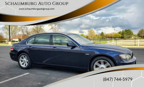 2008 BMW 7 Series for sale at Schaumburg Auto Group in Schaumburg IL