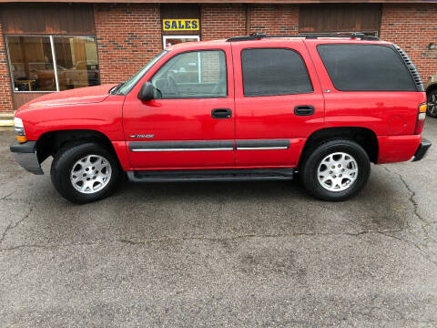 2002 Chevrolet Tahoe for sale at Atlas Cars Inc. in Radcliff KY