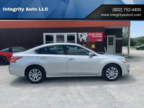 2013 Nissan Altima for sale at Integrity Auto LLC - Integrity Auto 2.0 in St. Albans VT
