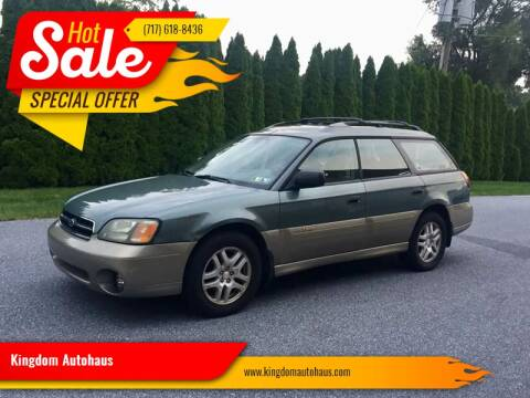 2002 Subaru Outback for sale at Kingdom Autohaus LLC in Landisville PA
