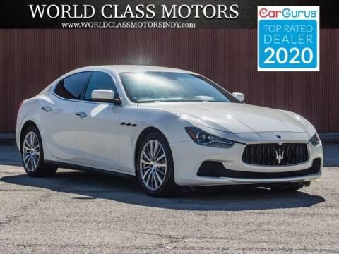 2015 Maserati Ghibli for sale at World Class Motors LLC in Noblesville IN