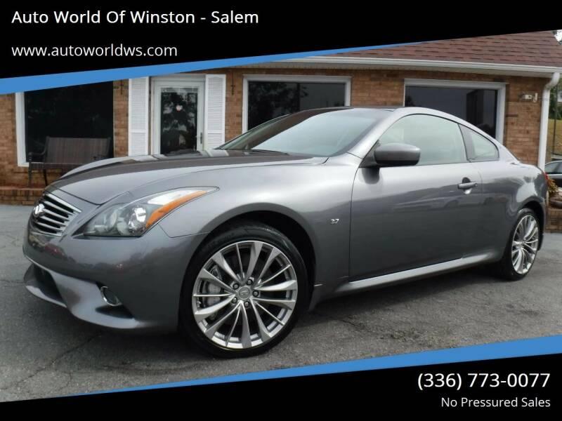 2014 Infiniti Q60 Coupe for sale at Auto World Of Winston - Salem in Winston Salem NC