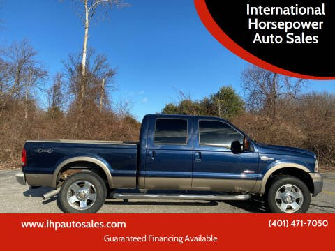 2006 Ford F-250 Super Duty for sale at International Horsepower Auto Sales in Warwick RI
