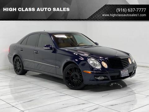 2008 Mercedes-Benz E-Class for sale at HIGH CLASS AUTO SALES in Rancho Cordova CA