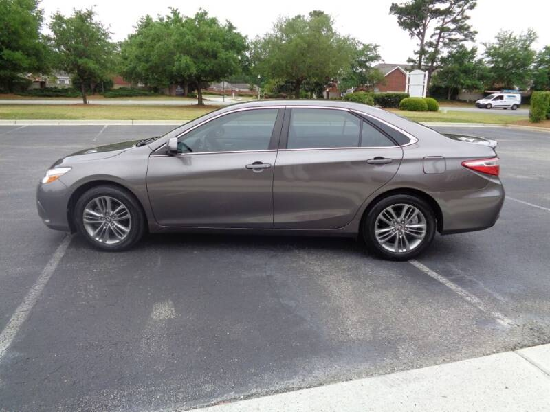 2015 Toyota Camry for sale at BALKCUM AUTO INC in Wilmington NC