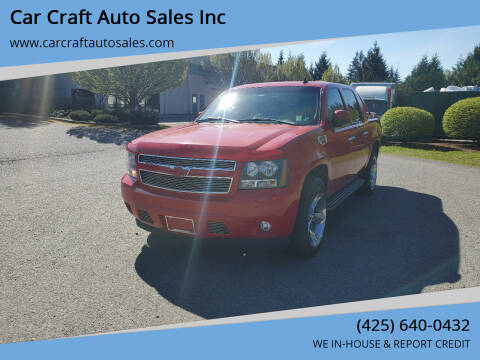 2007 Chevrolet Avalanche for sale at Car Craft Auto Sales Inc in Lynnwood WA