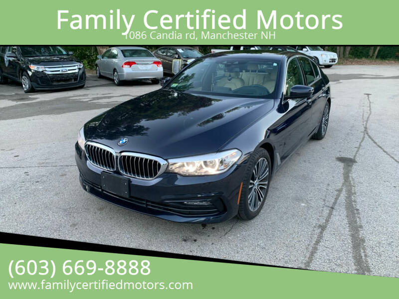 2018 BMW 5 Series for sale at Family Certified Motors in Manchester NH