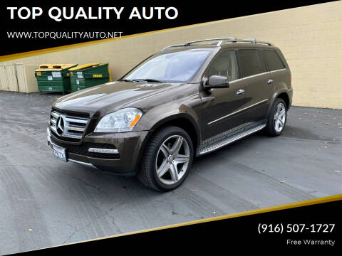 2012 Mercedes-Benz GL-Class for sale at TOP QUALITY AUTO in Rancho Cordova CA