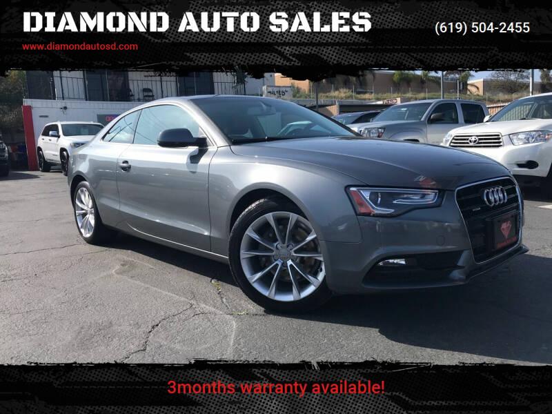 2013 Audi A5 for sale at DIAMOND AUTO SALES in El Cajon CA